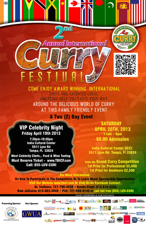 Tampa Bay International Curry Festival Flyer